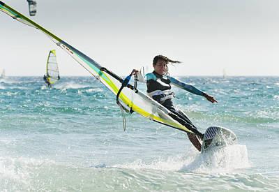 Windsurfing Off Punta Paloma Tarifa Poster by Ben Welsh