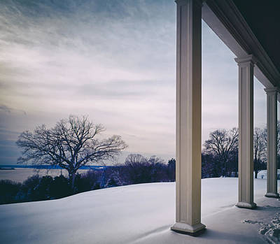 Winter From The Porch Of Mount Vernon Poster by Mountain Dreams