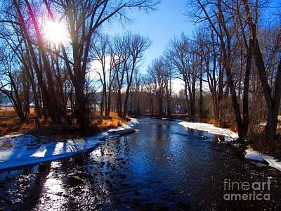 Winter Recedes From The Little Blackfoot River Poster by Matthew Peek