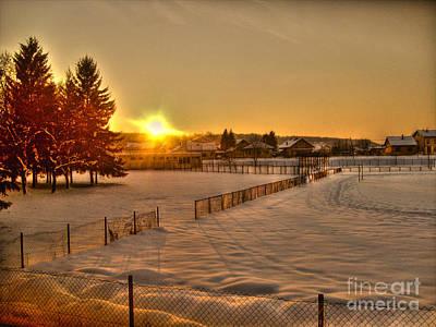 Winter Sunset Poster by Nina Ficur Feenan