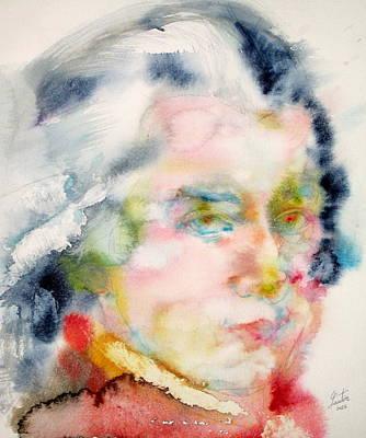 Wolfgang Amadeus Mozart Poster by Fabrizio Cassetta