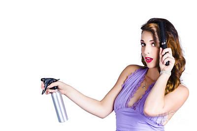 Woman Brushing Her Hair  Poster