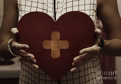 Woman Nursing Broken Heart From Divorce Poster
