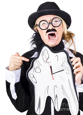 Woman Running Out Of Time Poster