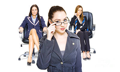 Women Achievers In Corporate Business Poster