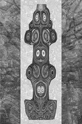 Woodcraft Ghosts Spirits Indian Native Aboriginal Masks Motif Symbol Emblem Ethnic Rituals Display H Poster
