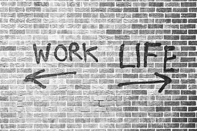 Work And Life Poster by Tom Gowanlock