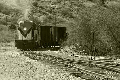 Work Train In Clarkdale Arizona Poster