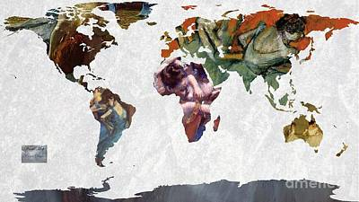 World Map  Degas 1 Poster by John Clark