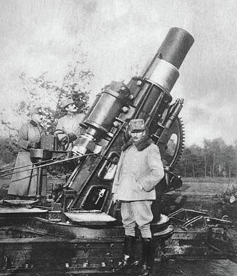 World War I Howitzer Poster