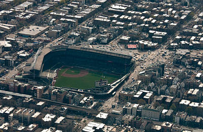 Wrigley Field From The Air Poster by Anthony Doudt
