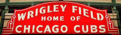 Wrigley Field Sign Poster