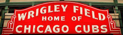Wrigley Field Sign Poster by Lynne Jenkins