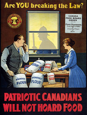 Wwi Food Supply, C1915 Poster