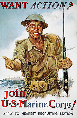 Wwii Recruiting Poster Poster by Granger