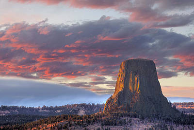 Wy, Devils Tower National Monument Poster by Jamie and Judy Wild