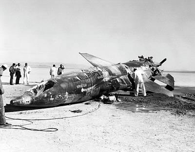 X-15 Aircraft Crash Site Poster
