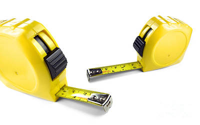 Yellow Tape Measures Poster by Jorgo Photography - Wall Art Gallery