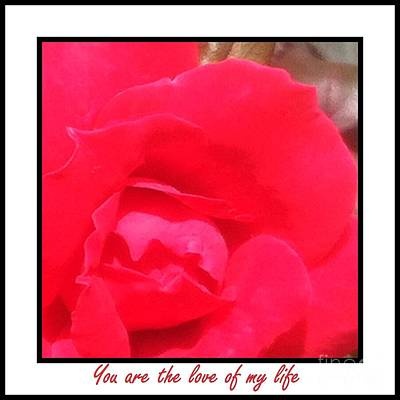 You Are The Love Of My Life By Saribelle Rodriguez Poster
