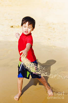 Young Asian Boy On Vacation Poster by Jorgo Photography - Wall Art Gallery
