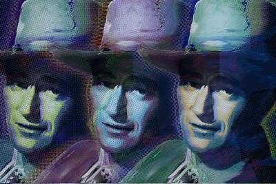 Young John Wayne Pop Repeat Poster