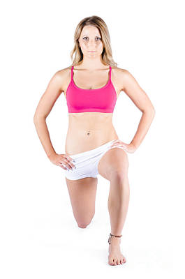Young Woman Exercising Poster