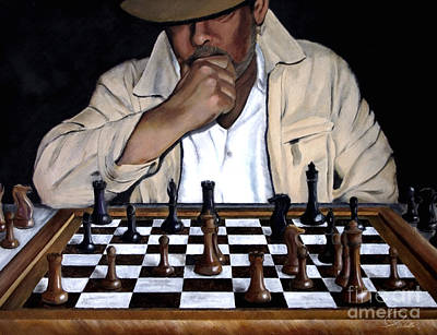 Your Move Poster by AWellsArtworks Fine Art