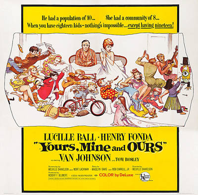 Yours, Mine And Ours, Us Poster Art Poster