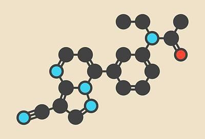 Zaleplon Hypnotic Drug Molecule Poster