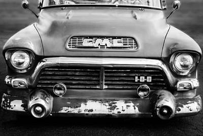 1957 Gmc V8 Pickup Truck Grille Emblem Poster