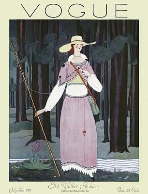 A Vintage Vogue Magazine Cover Of A Woman Poster by Georges Lepape