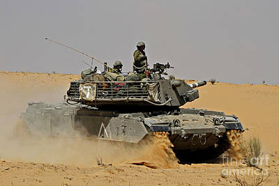 An Israel Defense Force Magach 7 Main Poster by Ofer Zidon