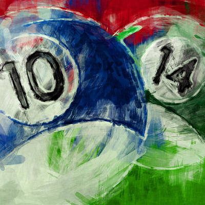 10 And 14 Billiards Abstract Poster