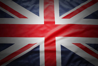 British Flag Poster by Les Cunliffe