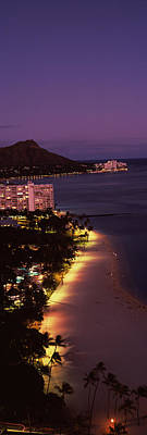 Buildings At The Waterfront, Honolulu Poster by Panoramic Images