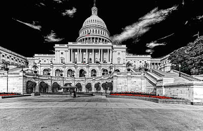 Poster featuring the photograph Capitol Building by Peter Lakomy