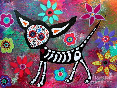 Chihuahua Dia De Los Muertos Poster