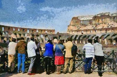 Colosseum In Rome Poster by George Atsametakis