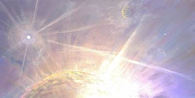 Cosmic Light Series Poster by Len Sodenkamp