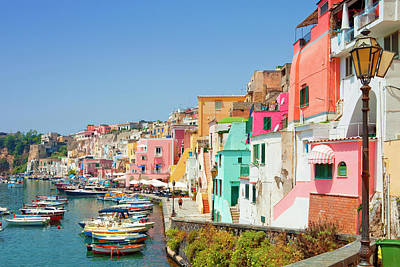 Marina Corricella, Procida Island, Bay Poster by Panoramic Images
