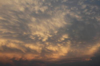Poster featuring the photograph Nebraska Mammatus Sunset by NebraskaSC