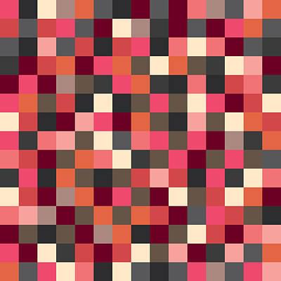 Pixel Art Square Poster