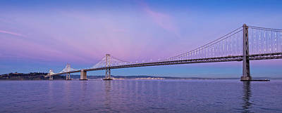 Suspension Bridge Over Pacific Ocean Poster by Panoramic Images