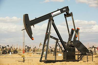 The Kern River Oilfield In Oildale Poster