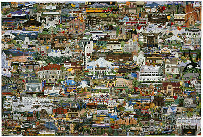 100 Painting Collage Poster by Jennifer Lake