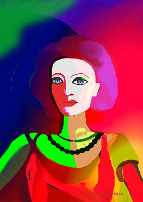 1012 - Lady Colourful  Touch Poster by Irmgard Schoendorf Welch