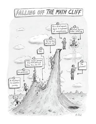 Falling Off The Math Cliff Poster by Roz Chast