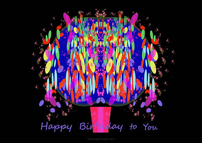 1038 - Happy Birthday  To You Poster by Irmgard Schoendorf Welch
