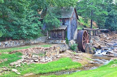 Sixes Mill On Dukes Creek Poster by Gordon Elwell