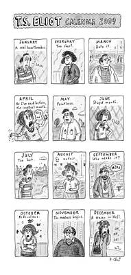 T.s. Eliot Calendar Poster by Roz Chast